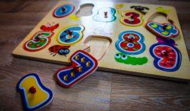 Zahlen Holz Steck Puzzle