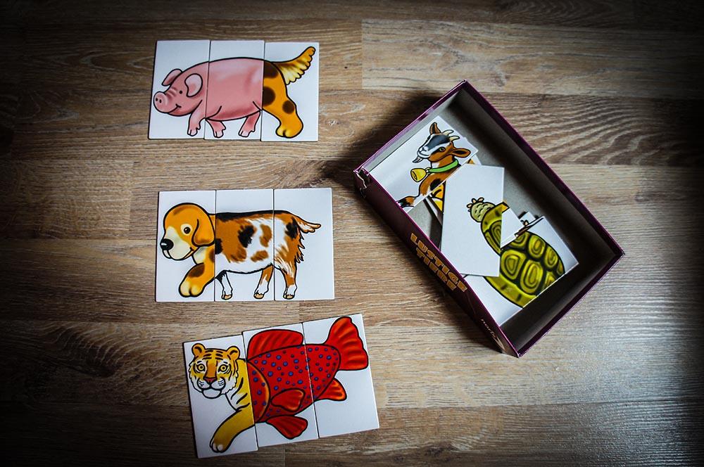 Lustige Tiere Puzzle Kreativ