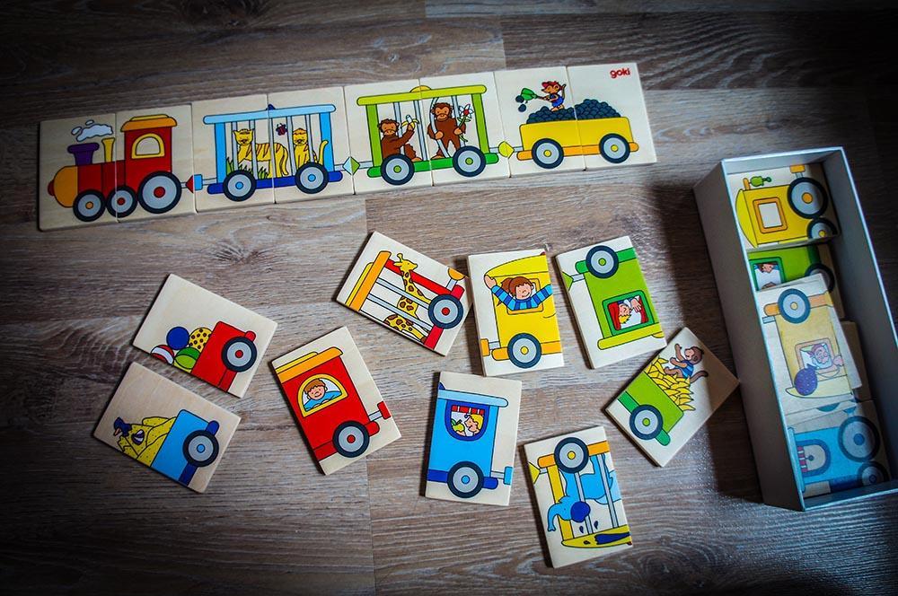 Holz Puzzle Eisenbahn Memo Spiel